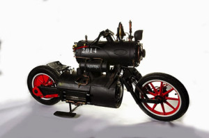 """3rd Prize: Revatu Customs of The Netherlands with """"Black Pearl"""", a bike powered completely by compressed air!"""