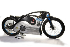 """The show also saw the Championship's first ever electric bike - """"Strom 48"""" built by Noel Connelly of Flame-Art Design, which picked up the Best Custom award."""